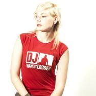 DJ Make It Louder Girltank (Red)