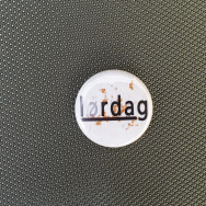 LORDAG RECORDS BUTTON (WHITE)