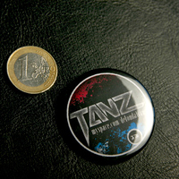 Big Button Tanz Logo (Black / 45mm)