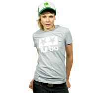 Turbo Logo Girl Shirt (Heather Grey)