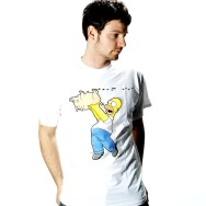 The Simpsons - Spiderpig Shirt (White)