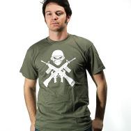 Iron Maiden - Crossed Guns Shirt (Olive)