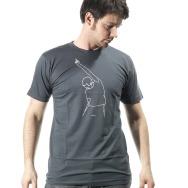 Mos Ferry Finger Logo Shirt (Asphalt)