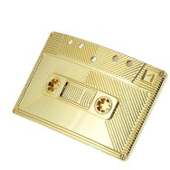 Old Cassette Belt Buckle (Gold)