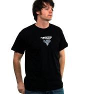 Hardcode to the Bone Shirt (White / Silver on Black)