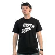 Midnight Operator Shirt (Black / White Print)