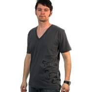Wagon Repair Side Logo V- Neck Shirt (Asphalt)