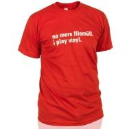 I Play Vinyl Shirt (Red / White Print)