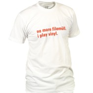 I Play Vinyl Shirt (White / Red Print)