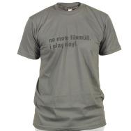 I Play Vinyl Shirt (Asphalt / Black Print)