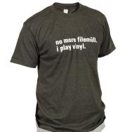I Play Vinyl Shirt (Heather Black / White Print)