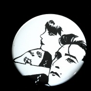 Miss Kittin & the Hacker Button 2009 Cover (4,5 cm/ White)