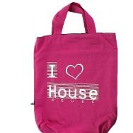 I Love House Shopper Bag (Pink)