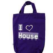 I Love House Shopper Bag (Lila)