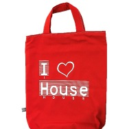 I Love House Shopper Bag (Red)
