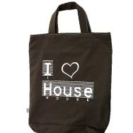 I Love House Shopper Bag (Brown)