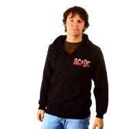 AC/DC Black Ice Hooded Zipper (black)