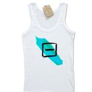 Girltanktop Minus Rec Watercolor Logo (White)