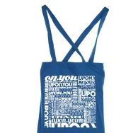 Upon.You Rec Many Logos Jute Bag (Blue)