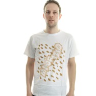 Maurizio By Gin N. Guice Shirt (White/Brown Print)