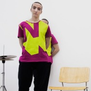 Perlon Shirt (Letter N - Magenta)