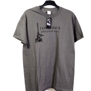 Lockermatik Records T-Shirt (Black Logo on Grey)