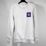 Warp Sweatshirt (Purple Logo on Melange-Grey)