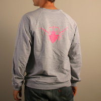 Cocoon Logo Sweater (Grey / Pink)