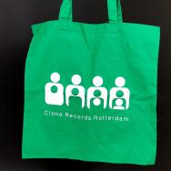 Clone TOTE Bag (White on Green)