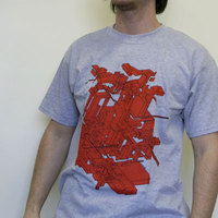 Delta Red Cubes (Beton gray Shirt)