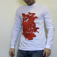 Delta Red Cubes (Longshirt / White)