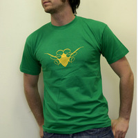 Cocoon Rec Label Shirt (Green-Yellow)