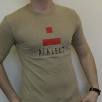 Dialect Logo Shirt (Beige / Red Logo)