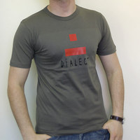 Dialect Logo Shirt (Olive / Red Logo)