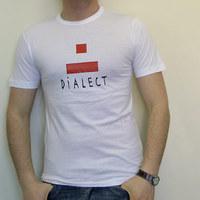 Dialect Logo Shirt (White / Red Logo)