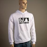 DJ Make It Louder Hooded Sweater (White)