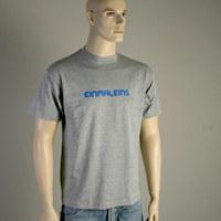 Einmaleins Man-Shirt (grey with blue labelname)