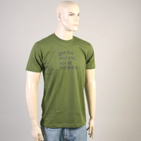 Get The Real Me Not At Myspace Shirt (Bottle Green)