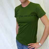 Girl Agoria Text (Olive)