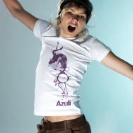 Azuli Side Logo Girl Shirt (White)