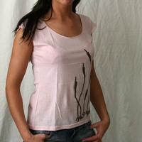 Delon & Dalcan Girl Tank (Pink / Brown Logo)