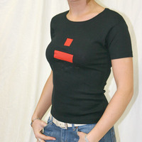 Girly Dialect Logo Shirt (Black / Red Logo)
