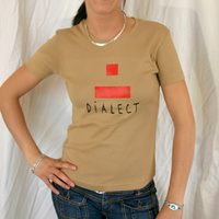 Girly Dialect Logo Shirt (Beige / Red Logo)