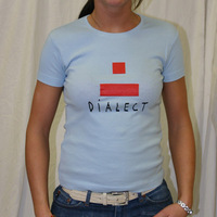 Girly Dialect Logo Shirt (Skyblue/ Red Logo)