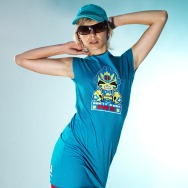 Don t Fuck with me Girl Dress (Teal )