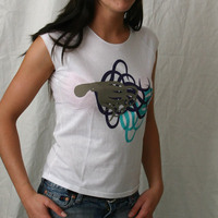 Girl Kalimari Chest 3 Colors Shirt (White)