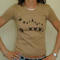 Girly Katpult Label Shirt (Sand / Black Logo)