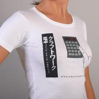 Kraftwerk Calculator Girlshirt (White)