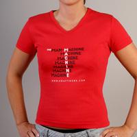 Kraftwerk The Man Machine Girlshirt (Red)
