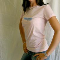 Girl Neuton Logo shirt (pink)